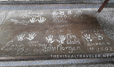 Handprints of Miss Universe 1974 Winners in Montebello Villa