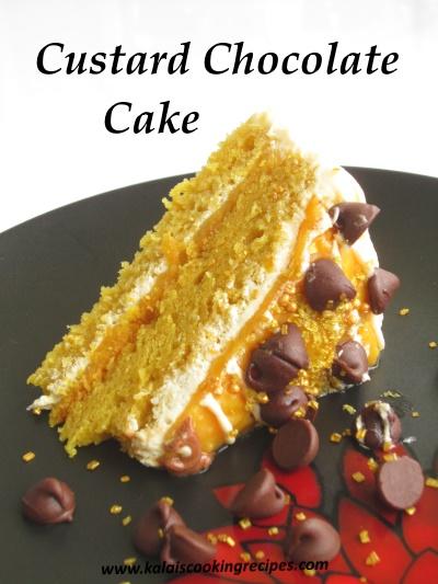Super Custard Chocolate Cake Homemade Easy Custard Chocolate Cake Funny Birthday Cards Online Eattedamsfinfo