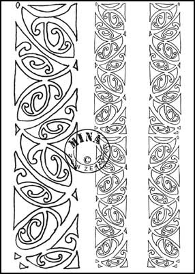 Maori Printables Kowhaiwhai Colouring Page 3