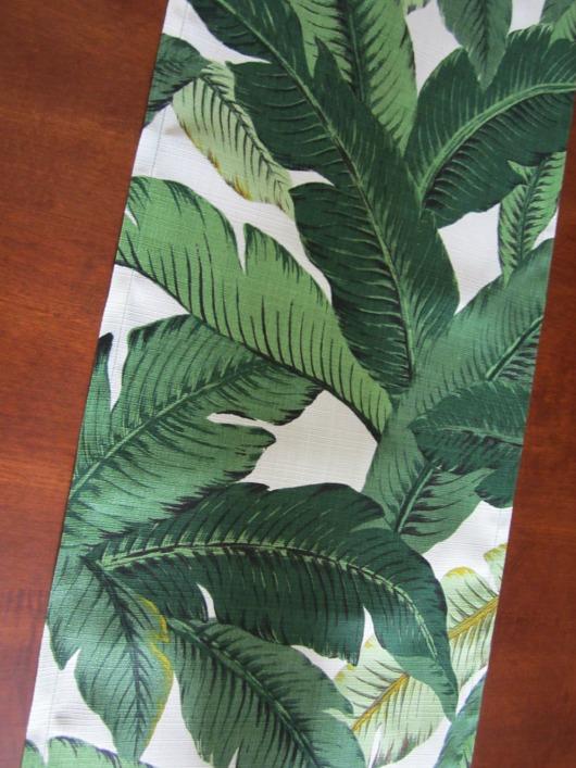 Banana Palm Leaf Table Runner