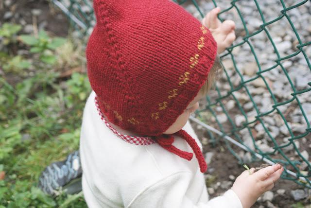 Bonnet tricoté pour bébé Bébéguin profil