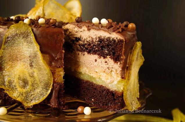 Tort czekoladowo-gruszkowy - obłędny i uzależniający:)