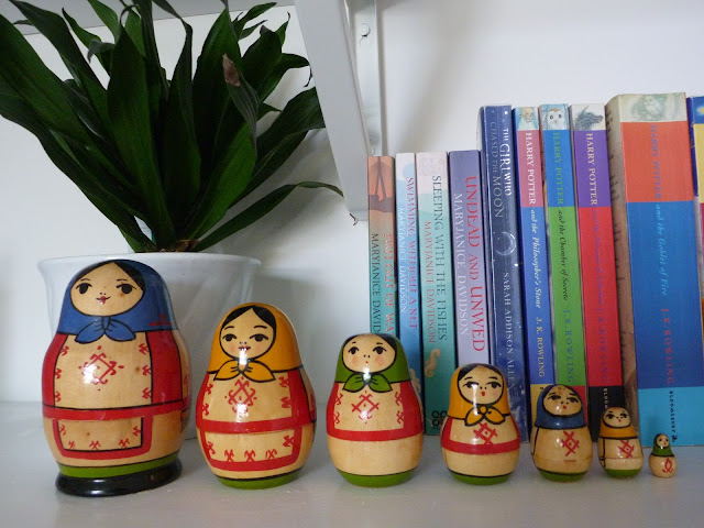 Charity shopping, Matryoshka and not one but two retro jugs from Aberystwyth. secondhandsusie.blogspot.com #charityshopping #charityshop #thrifting #charityshopblogger