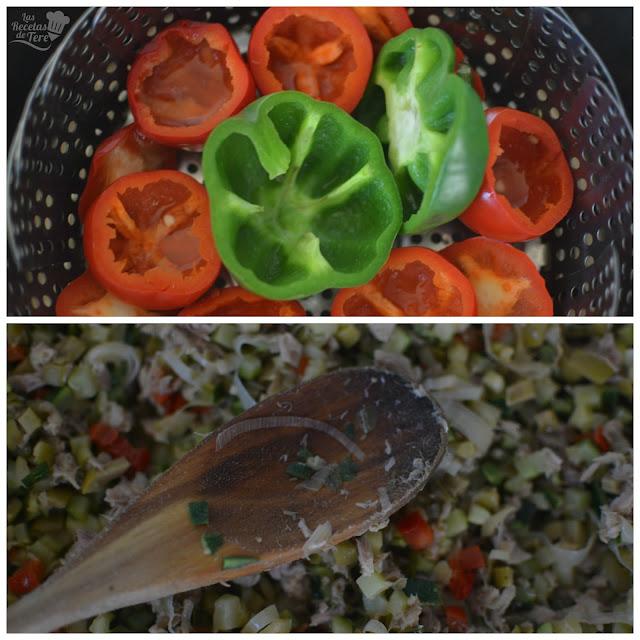 Pimientos cherry rellenos con guiso de vegetales y atún tererecetas 02