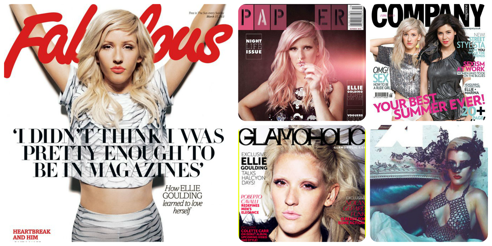 Ellie Goulding cover magazines