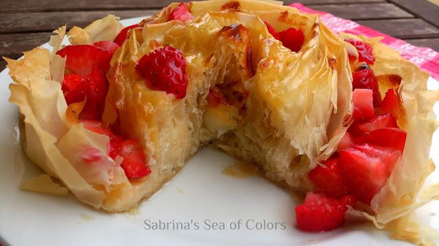 Tarta griega fresas