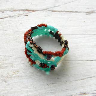 купить оригинальное кольцо авторские кольца бисер фриформ