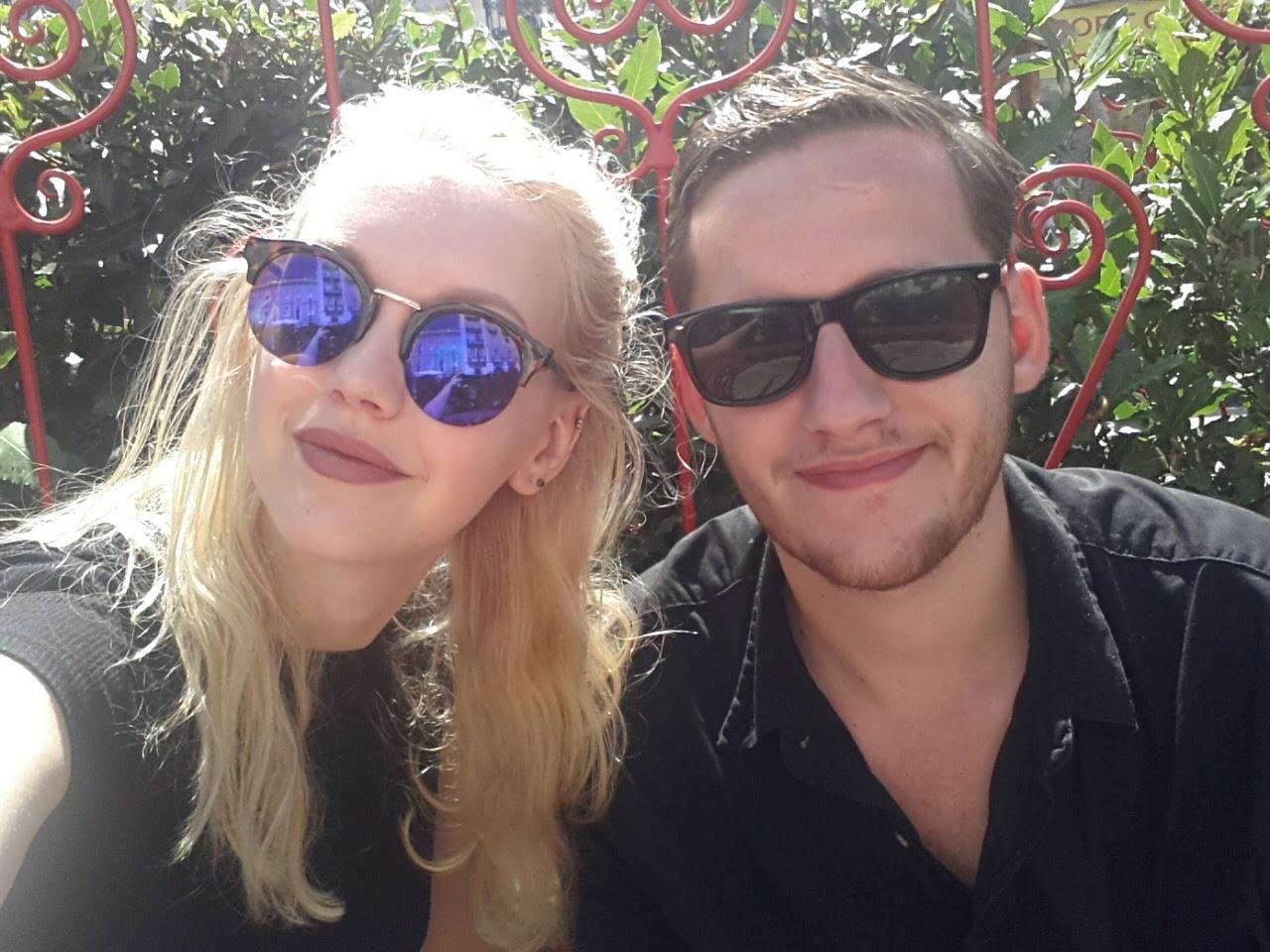 Ik en Alex in Lissabon