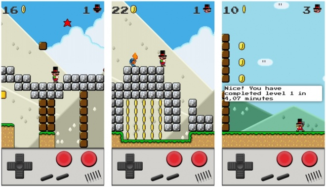 Game in the style Mario Bros is available in the App Store for iPhone and iPod Touch