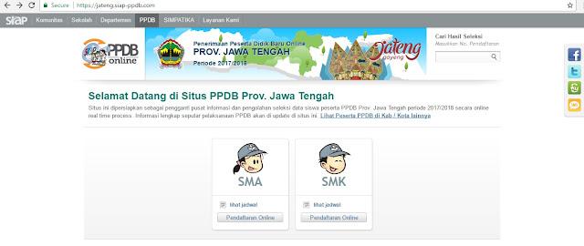 cara menyampaikan pertanyaan kepada panitia PPDB Online Provinsi Jawa Tengah