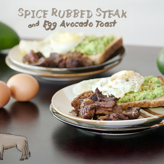 Spice Rubbed Steak and Egg Avocado Toast