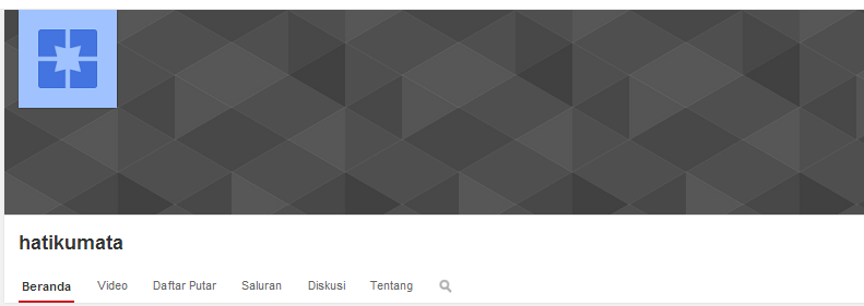 gambar tampilan channel youtube