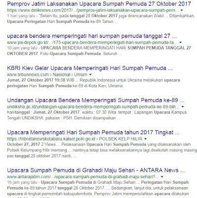 Ini Penjelasan Tentang Upacara Hari Sumpah Pemuda ke-89 Boleh Dilaksanakan Tanggal 27 Oktober 2017