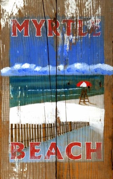 coastal wood sign custom text