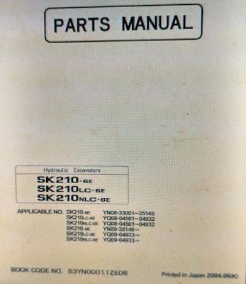 Parts manual sk 210 - 6e - sk210 lc - 6e - sk 210 nlc -6e