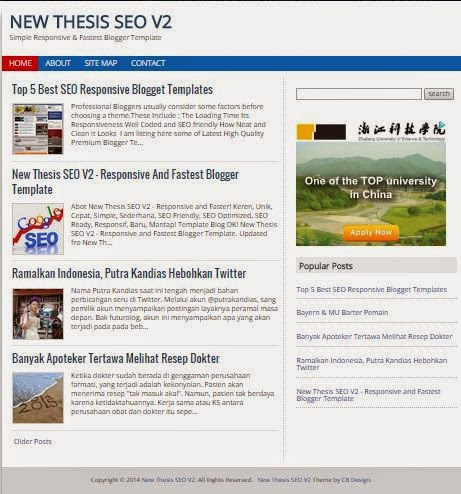 New Thesis SEO V2 - SEO Responsive Blogger Template 2015