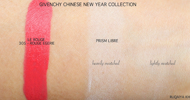 GIVENCHY Chinese New Year Collection - Le Rouge Lipstick and Prism Libre Review and Swatches