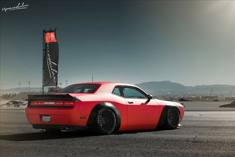 Dodge Challenger on the VR15 wheels 1