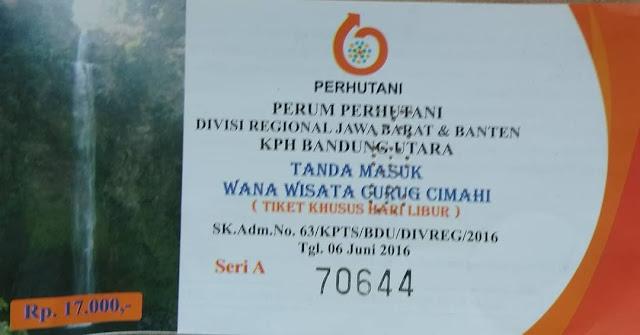 curug Cimahi atau air terjun pelangi alias Rainbow Waterfalls Bandung, Harga tiket masuk curug Cimahi Bandung, rute perjalanan ke Curug Cimahi Bandung