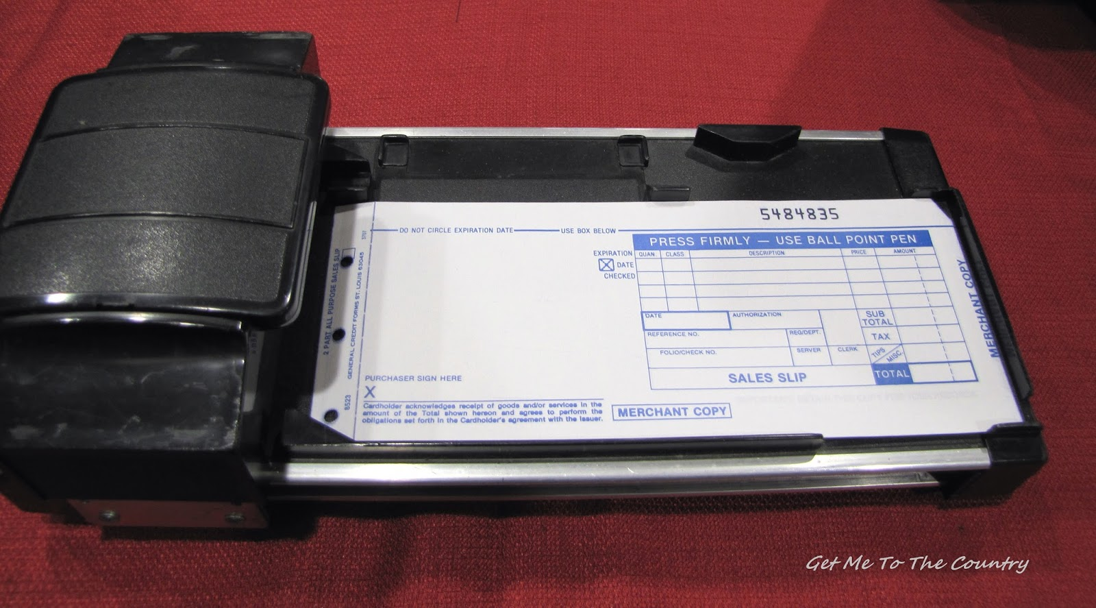 fashioned credit card machine