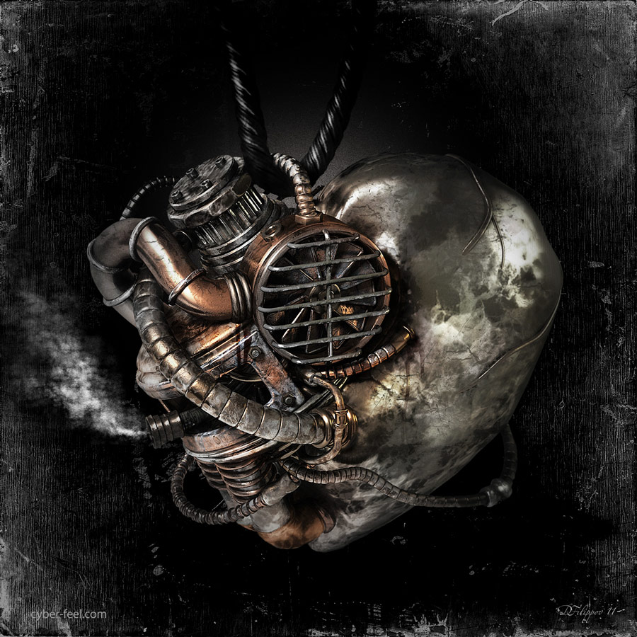 04-Diesel-Heart-Dmitry-Filippov-Steampunk-Digital-Art-with-the-Zodiac-www-designstack-co