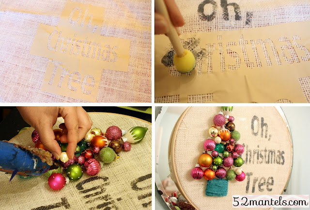 How to make this adorable Oh Christmas Tree Wreath!! Makes great decor for the holiday season!