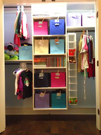 11 Ways to Organize with Clothespins - Cubby Labels:: OrganizingMadeFun.com