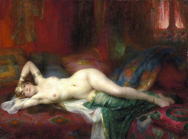 Adrien-Henri Tanoux - Odalisca - erotismo - arte