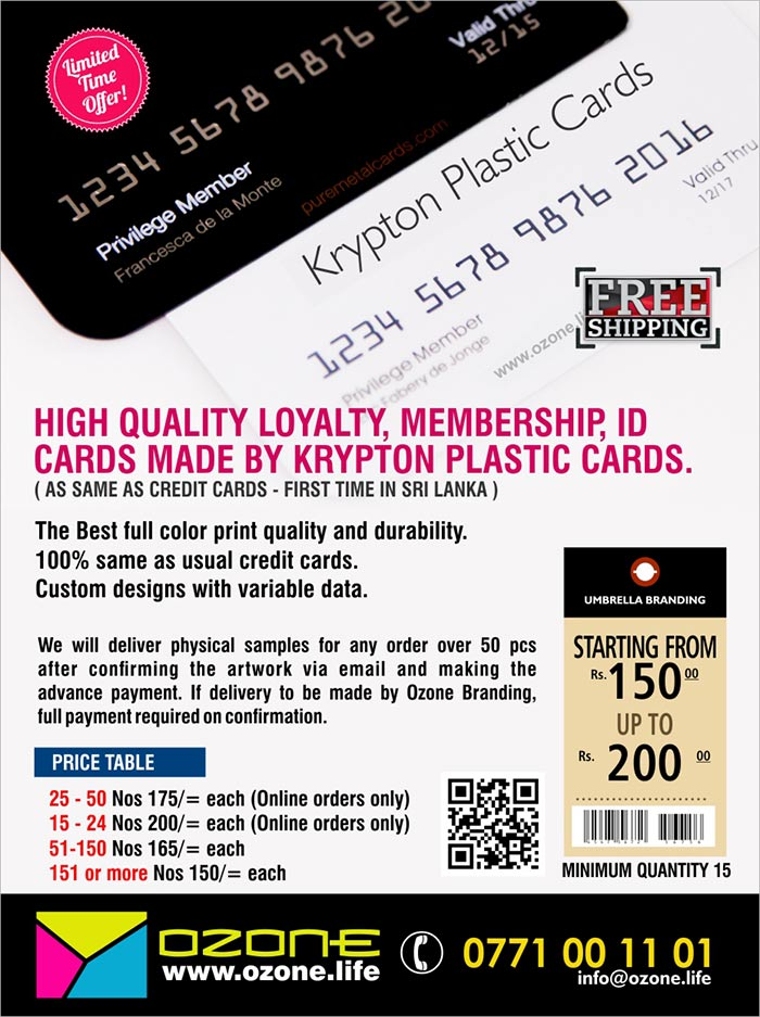High quality Loyalty, Membership, ID  Cards Made By Krypton Plastic Cards (Same as credit cards).