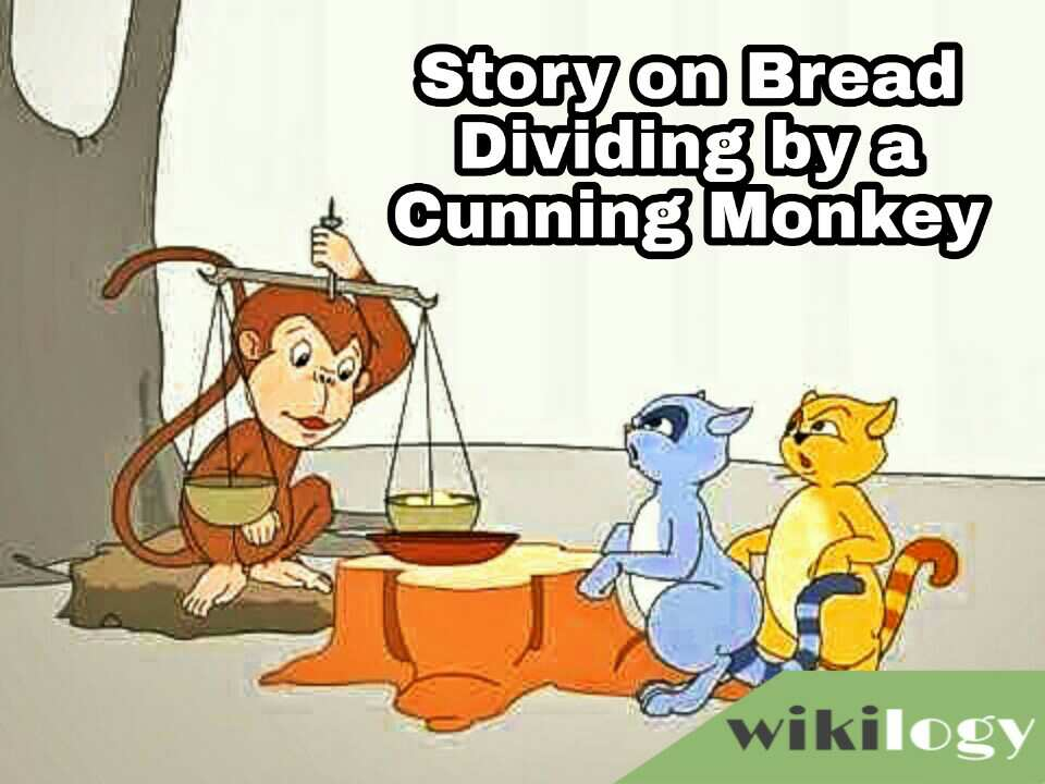Bread dividing by a cunning monkey story