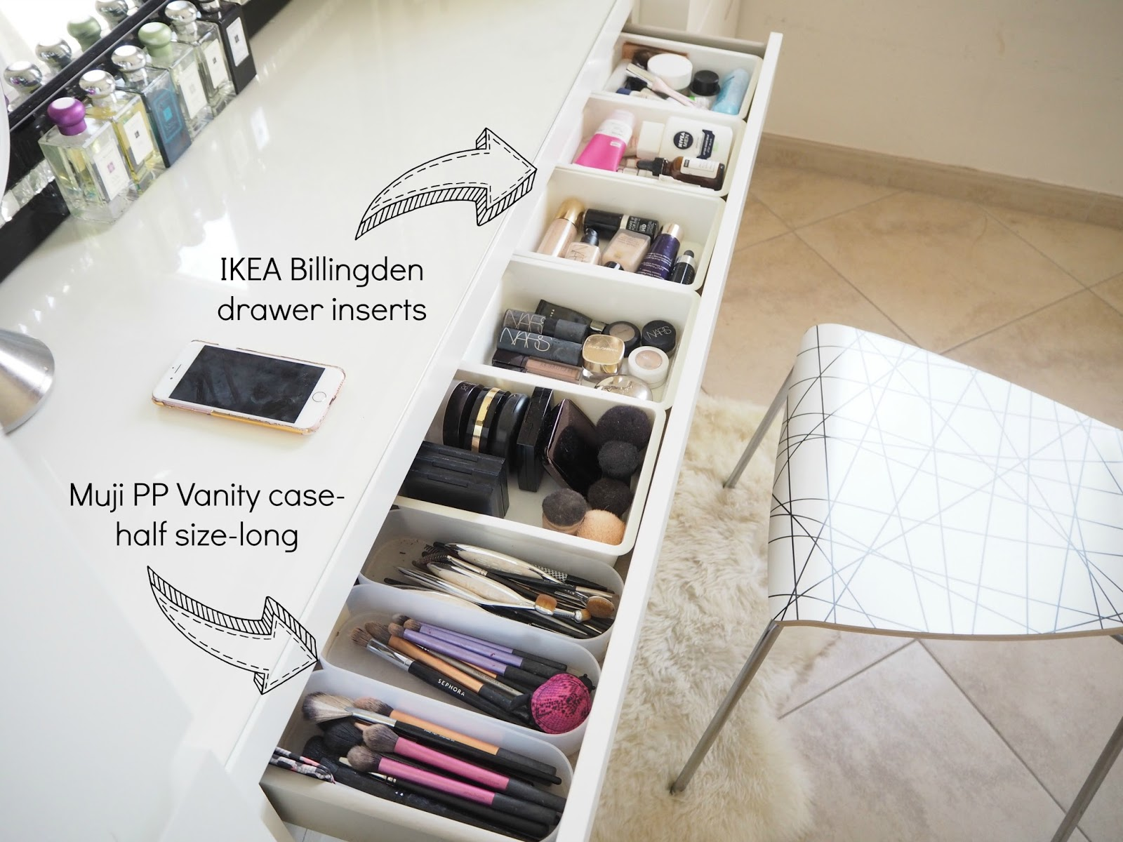 make up storage ideas ikea malm dressing table