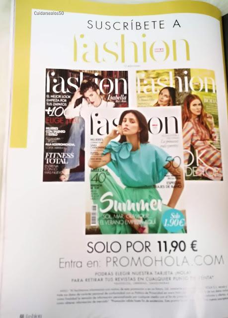 Revista Hola fashion Cuidarsealos50