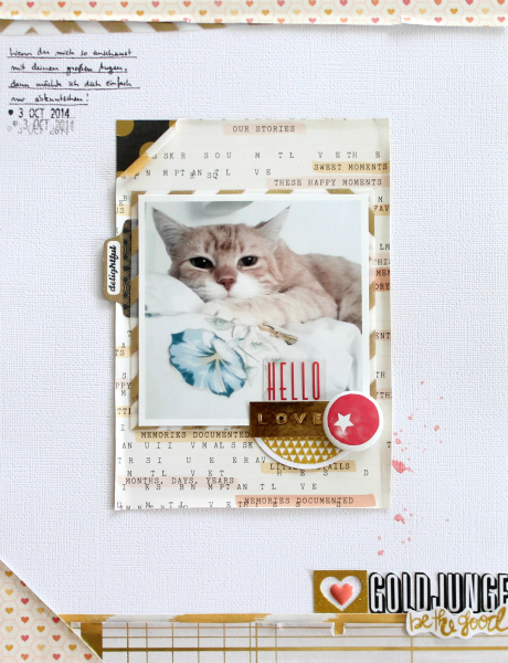 Goldjunge | Scrapbooking Layout | Mein kreatives Jahr 2015