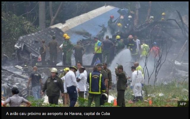 Boeing caiu após decolar de Havana e deixa mais de 100 mortos