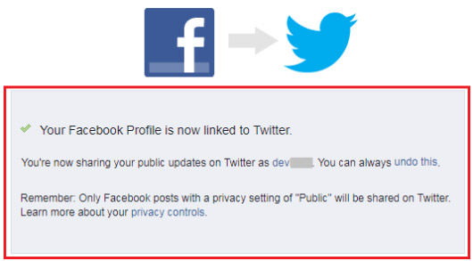 how to connect facebook and twitter account together