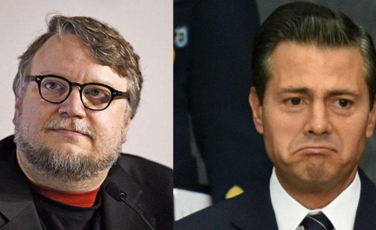 'No me gusta cuando me felicita' Peña Nieto: Guillermo del Toro