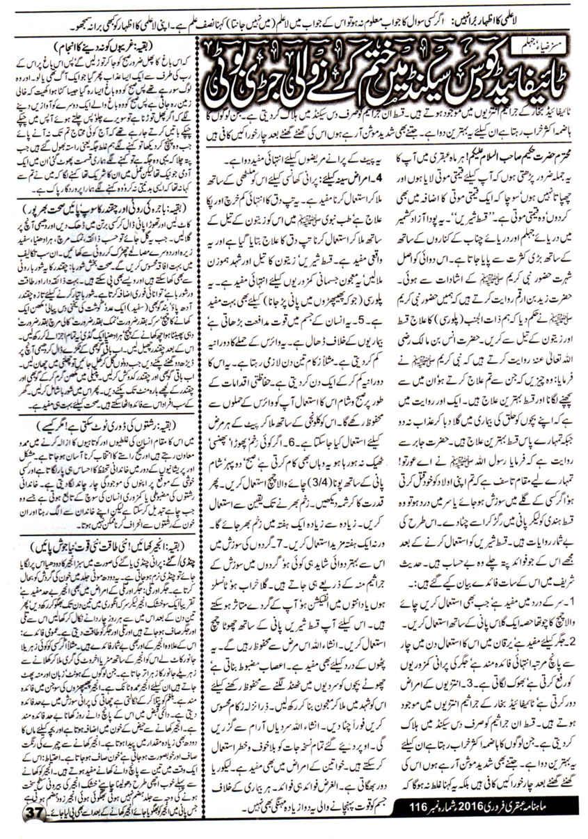 Page 37 Ubqari Magazine February 2016