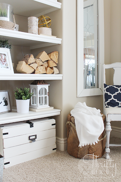 DIY Hidden printer storage in a cabinet! Make it whatever size you need to fit your space.