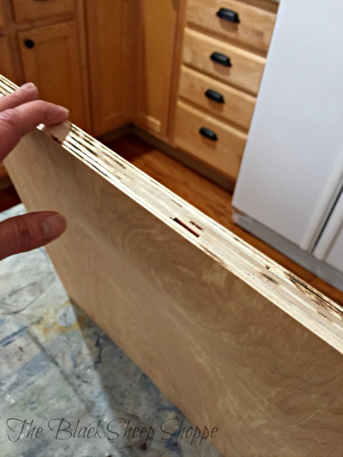 The plywood is strong, but the edge is ugly. Don't worry there's any easy fix.