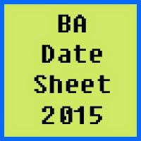 BA date sheet 2017 of all Pakistan universities