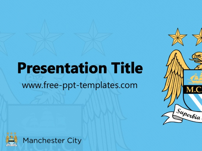 manchester city ppt template, Modern powerpoint