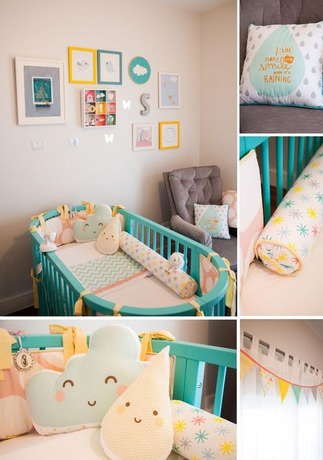 pastelowy pokoik dla niemowlaka