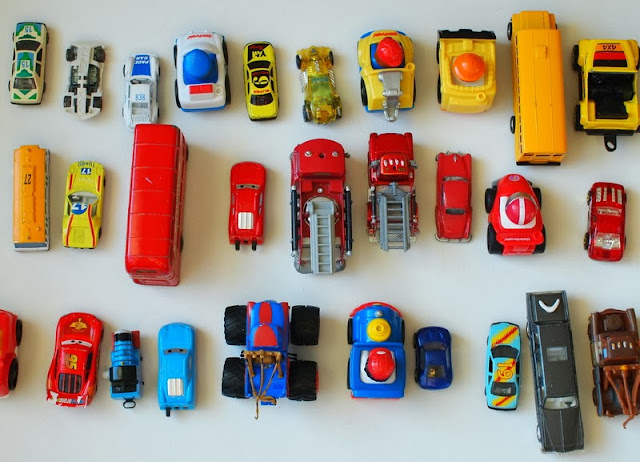 toy cars arranged in a nice way