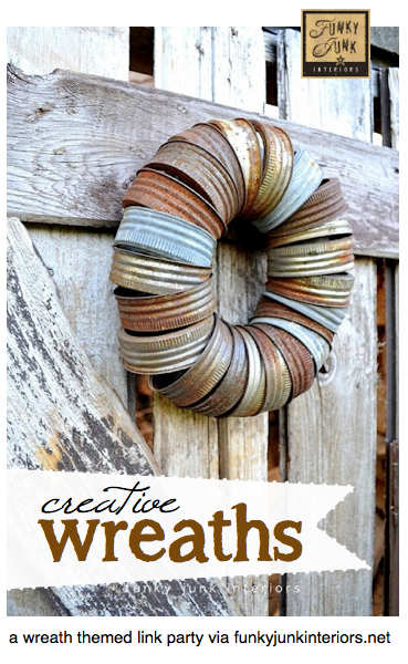 Creative Wreaths - a themed link party via Funky Junk Interiors