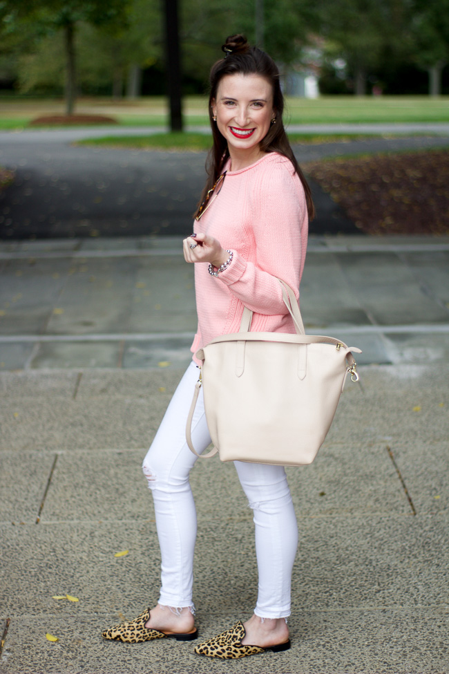 Faith And Fancy Jcrew Pink Rollneck Sweater