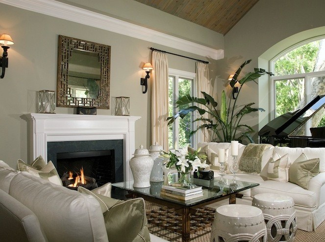 White Cream And Sage Green Living Room Website Also Has Some Examples Of Gray Rooms Taylor Look Pinterest