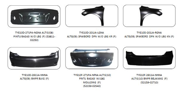 Bodypart Toyota Altis 2008-2010