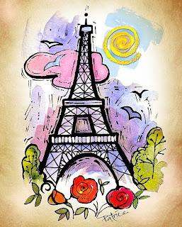 Optical Illusion Wallpaper Hd Paris Eiffel Tower Cartoon Free Download Wallpaper