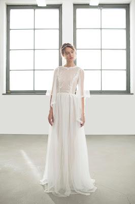 suknia ślubna z szerokimi rękawami 2018