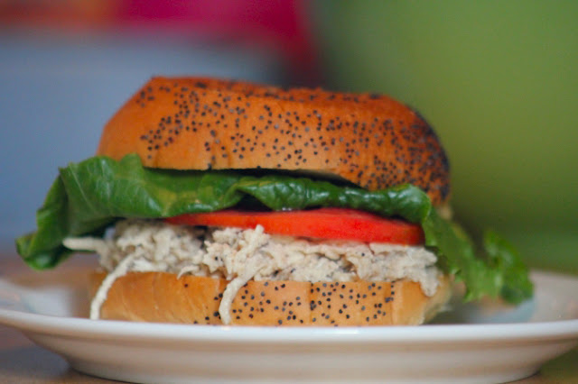 Chicken Caesar Sandwiches in the crockpot Recipe